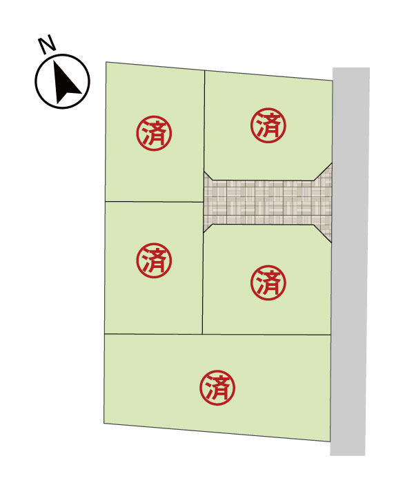 米子市新開6丁目 区画割図