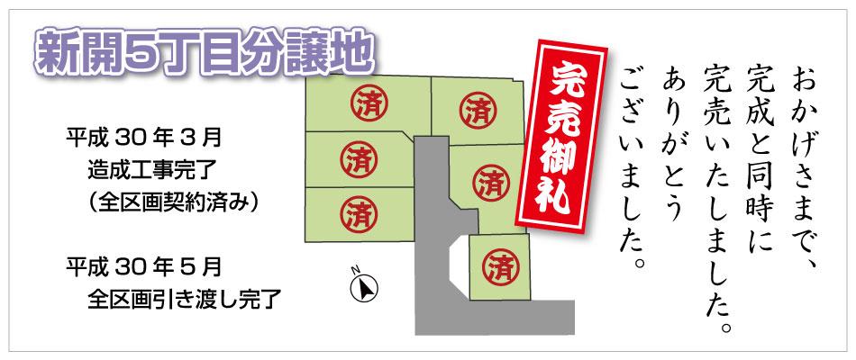 新開5丁目分譲地(6区画)